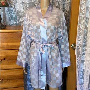 Oscar de la Renta Pink Label Lavender Robe Big M
